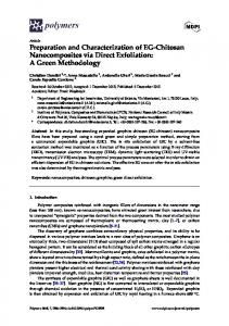 Preparation and Characterization of EG-Chitosan ... - Semantic Scholar