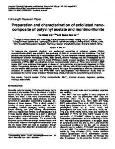 Preparation and characterization of exfoliated ... - Academic Journals