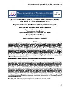 preparation and characterization of graphene-based magnetic ... - UKM?
