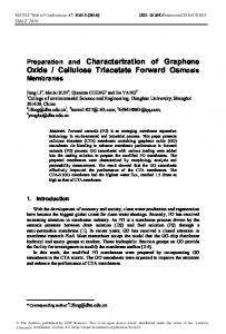 Preparation and Characterization of Graphene Oxide / Cellulose ...