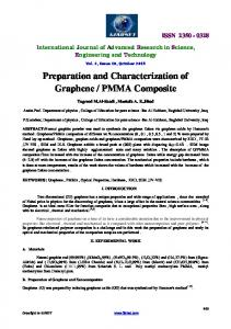 Preparation and Characterization of Graphene / PMMA Composite