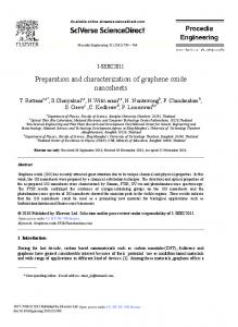 Preparation and characterization of graphene ... - ScienceDirect.com