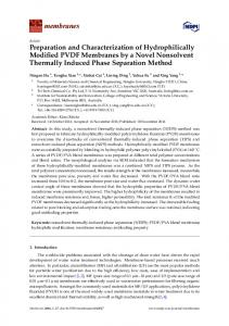 Preparation and Characterization of Hydrophilically Modified ... - MDPI
