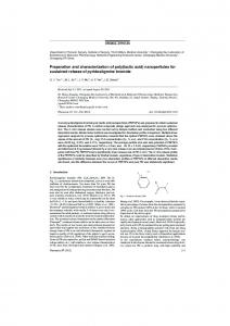 Preparation and characterization of poly (lactic acid) nanoparticles for ...