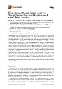Preparation and Characterization of Polyvinyl Alcohol ... - MDPI