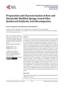 Preparation and Characterization of Raw and Chemically Modified
