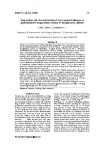 Preparation and characterization of superporous ... - Semantic Scholar