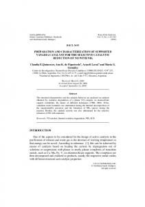 Preparation and Characterization of Supported ... - Springer Link