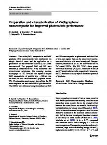 Preparation and characterization of ZnO/graphene ... - Springer Link