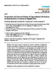 Preparation and Characterization of