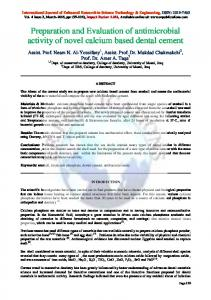 Preparation and Evaluation of antimicrobial activity