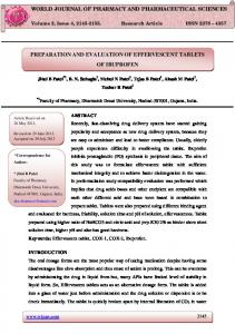 preparation and evaluation of effervescent tablets of ...