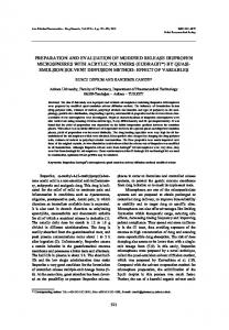 preparation and evaluation of modified release ibuprofen