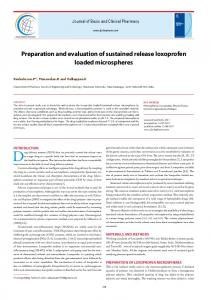 Preparation and evaluation of sustained release loxoprofen loaded
