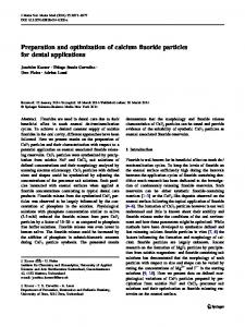 Preparation and optimization of calcium fluoride ...