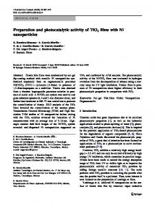 Preparation and photocatalytic activity of TiO2 films ... - Springer Link