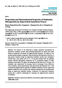 Preparation and Physicochemical Properties of