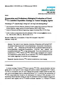 Preparation and Preliminary Biological Evaluation