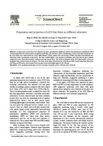 Preparation and properties of AZO thin films on different substrates