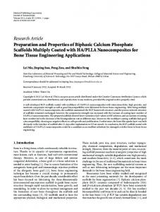 Preparation and Properties of Biphasic Calcium Phosphate Scaffolds ...