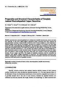 Preparation and Structural Characterization of Template Assisted ...