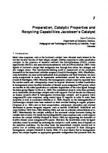 Preparation, Catalytic Properties and Recycling