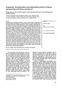 Preparation, characterization and antimicrobial activity of chitosan ...
