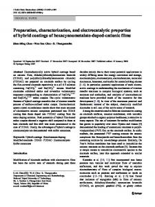 Preparation, characterization, and electrocatalytic