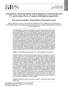 Preparation, characterization and evaluation of ... - Semantic Scholar