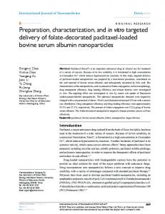 Preparation, characterization, and in vitro targeted ... - CiteSeerX