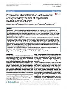 Preparation, characterization, antimicrobial and ... - Semantic Scholar