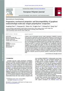 Preparation, mechanical properties and biocompatibility of graphene ...