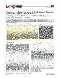 Preparation of a Three-Dimensional Reduced Graphene Oxide Film