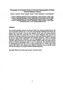 Preparation of Activated Carbon by Thermal ...