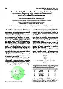 Preparation of Alkyl Formates from Corresponding Alcohols using ...