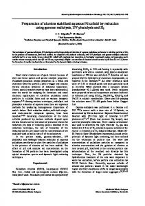 Preparation of alumina stabilized aqueous Pd colloid by reduction ...
