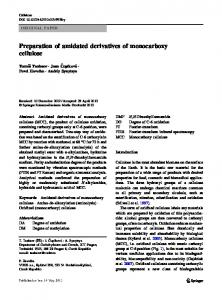 Preparation of amidated derivatives of monocarboxy ...
