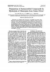 Preparation of Antimicrobial Compounds by Hydrolysis of ...