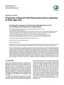 Preparation of Bismuth Oxide Photocatalyst and Its Application in ...