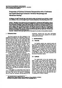 Preparation of Calcium Carbonate Nanoparticles with a Continuous ...