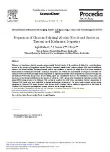 Preparation of Chitosan-Polyvinyl Alcohol Blends ... - ScienceDirect.com