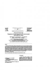 Preparation of coated nanoparticles for a new ... - Semantic Scholar