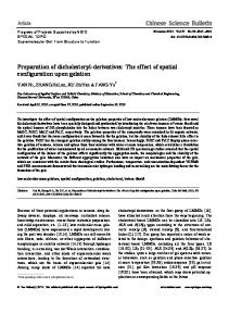 Preparation of dicholesteryl-derivatives: The effect of ... - Springer Link