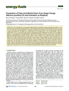 Preparation of Fatty Acid Methyl Esters from Osage ... - ACS Publications