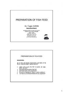 PREPARATION OF FISH FEED