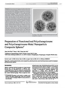 Preparation of Functionalized Polysilsesquioxane and