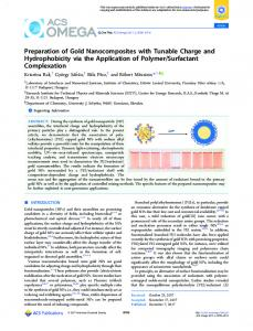 Preparation of Gold Nanocomposites with Tunable ... - ACS Publications