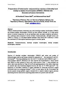 Preparation of heterocyclic compounds by reaction of ... - Arkivoc