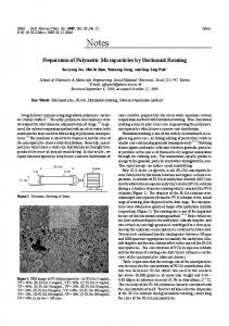 Preparation of Polymeric Microparticles by Horizontal ...