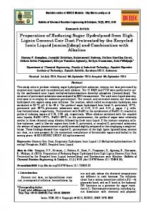 Preparation of Reducing Sugar Hydrolyzed from High-Lignin ... - Core